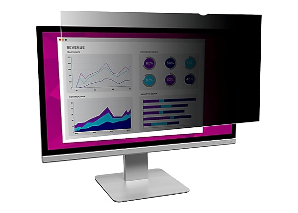 """3M High Clarity Privacy Filter for 24"""" Widescreen Monitor - display privacy"""