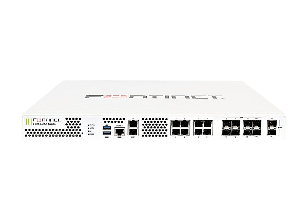 Fortinet FortiGate 500E - UTM Bundle - security appliance - with 1 year For