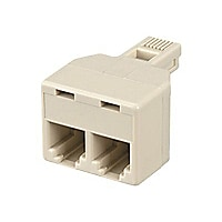 Black Box RJ11 4/6 Wire Phone Splitter, Male to 2 x Female