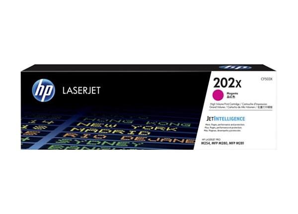 HP 202X - High Yield - magenta - original - LaserJet - toner cartridge (CF5