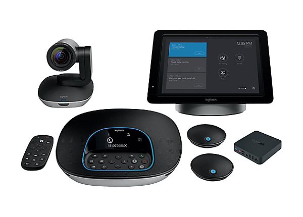 Logitech SmartDock Large Skype Room System - video conferencing kit - with