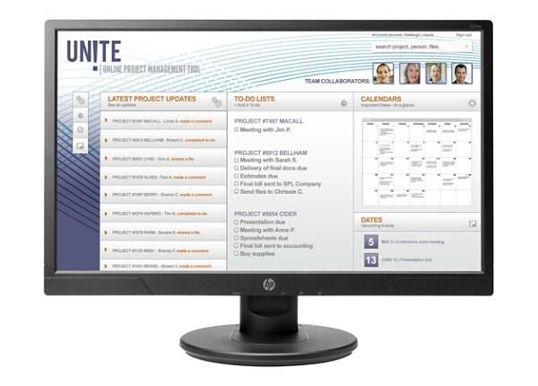 "HP V214a - LED monitor - Full HD (1080p) - 20.7"""