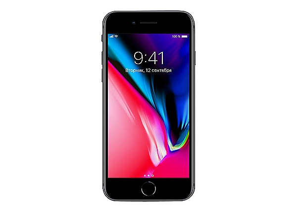 Apple iPhone 8 - space gray - 4G - 64 GB - GSM - smartphone