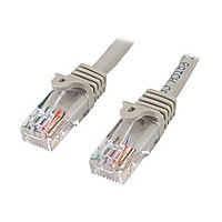 StarTech.com 50 ft Gray Cat5e / Cat 5 Snagless Patch Cable 50ft