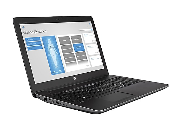 "HP ZBook 15 G4 Mobile Workstation - 15.6"" - Core i7 7700HQ - 16 GB RAM - 25"
