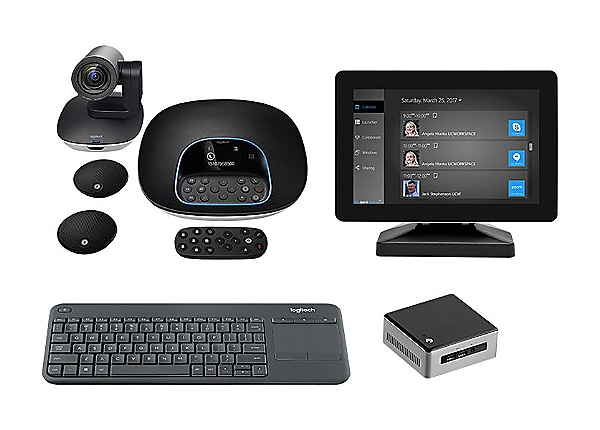 Logitech Premium GROUP Kit - video conferencing kit - with Intel NUC Kit NU