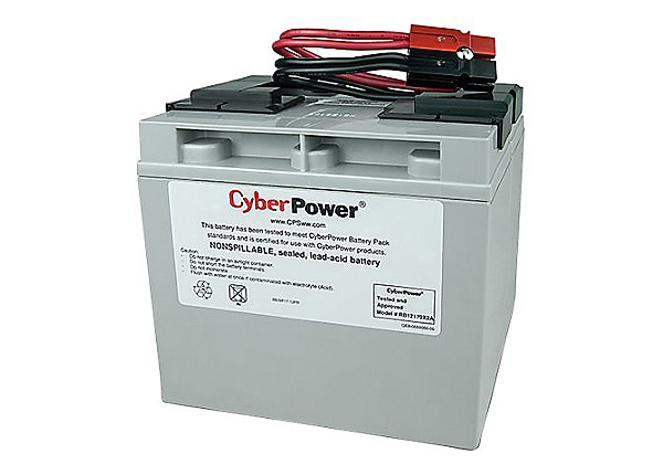 CyberPower RB12170X2A - UPS battery - lead acid - 17 Ah