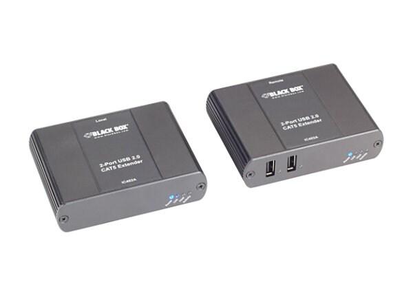 Black Box 2-Port CATx USB 2.0 Extender - USB extender - USB 2.0