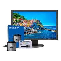 "NEC MultiSync PA243W-BK-SV - LED monitor - 24.1"""