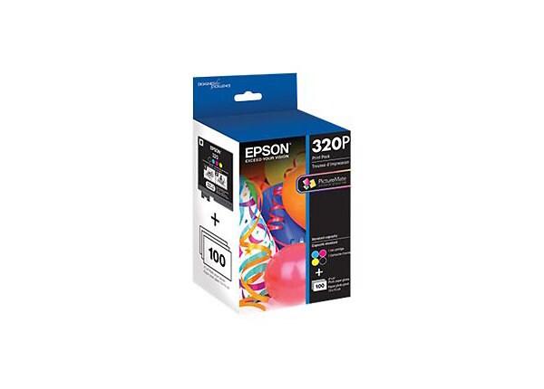 Epson 320P - 4-pack - black, yellow, cyan, magenta - original - ink cartrid