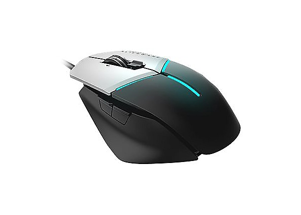 Alienware Elite Gaming Mouse AW958 - mouse - USB - black, silver
