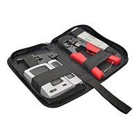 Tripp Lite 4 Pc Network Installer Tool Kit w/ Carrying Case RJ11 RJ12 RJ45