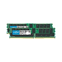 Crucial - DDR4 - 64 GB: 2 x 32 GB - DIMM 288-pin - registered