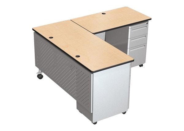 BALT Modular Teacher's Desk Double Pedestal Return Desk - table