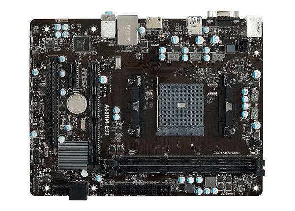 MSI A68HM-E33 - motherboard - micro ATX - Socket FM2 / FM2+ - AMD A68H