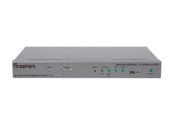 Gefen Ultra HD 600 MHz 1:2 Splitter for HDMI w/ HDR - video/audio splitter