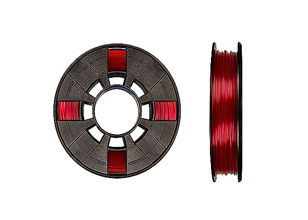 TEQ PLA SMALL SPOOL TRANSLUCENT RED