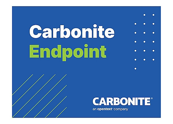 Carbonite Endpoint Standard Edition - subscription license (1 year) - 1 sea
