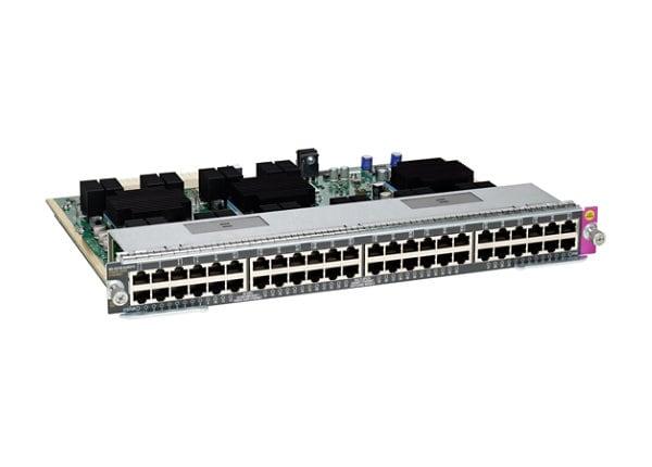 Cisco Line Card E-Series - switch - 48 ports - plug-in module