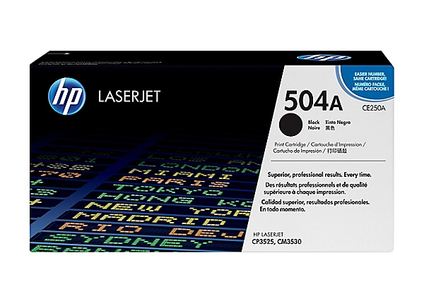 HP 504A - black - original - LaserJet - toner cartridge (CE250AG) - governm