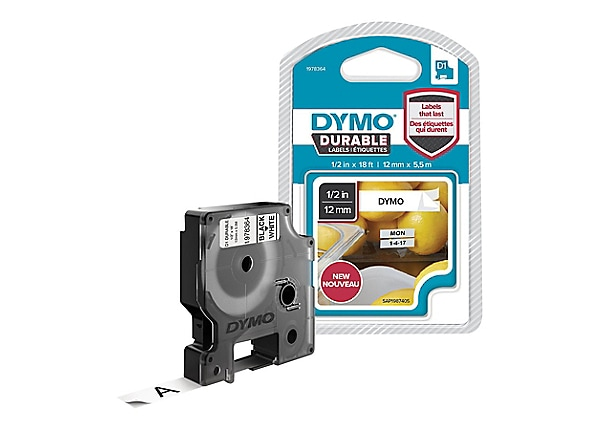 Dymo D1 Durable - label tape - 1 roll(s) - Roll (0.5 in x 18 ft)