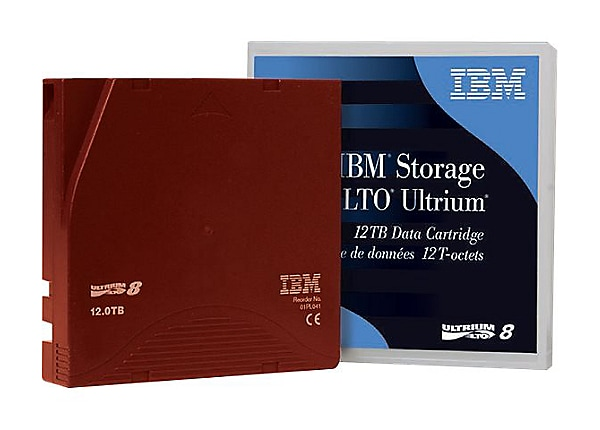 IBM - LTO Ultrium 8 x 1 - 12 TB - storage media