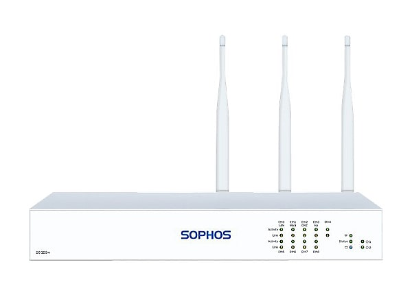 Sophos SG 125w - Rev 3 - security appliance - with 2 years TotalProtect 24x