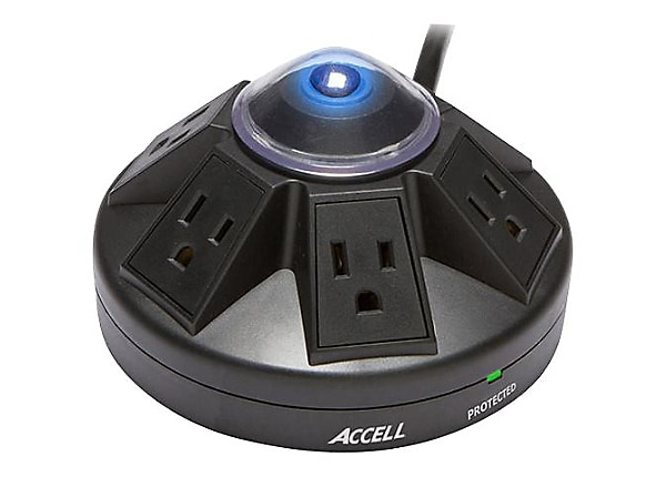 Accell Powramid Power Center and Surge Protector - surge protector - 1800 W