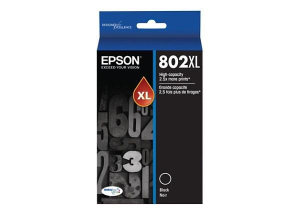 Epson 802XL With Sensor - haute capacité - noir - originale - cartouche d'encre