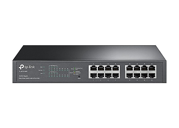 TP-Link Easy Smart TL-SG1016PE - switch - 16 ports - smart - rack-mountable
