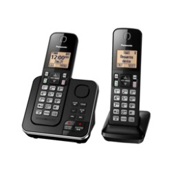 Panasonic KX-TGC362 - cordless phone - answering system with caller ID/call
