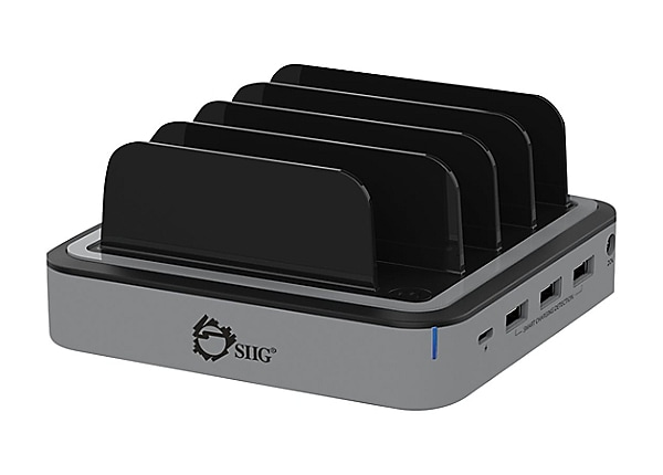SIIG 48W 4-Port USB with Type-C PD Laptop Charging Station - power adapter