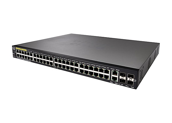 Cisco Small Business SG350-52P - switch - 52 ports - managed - rack-mountab