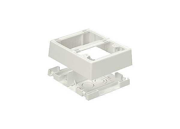 Panduit Pan-Way Fast-Snap Power Rated Two-Piece Snap Together Outlet Box -