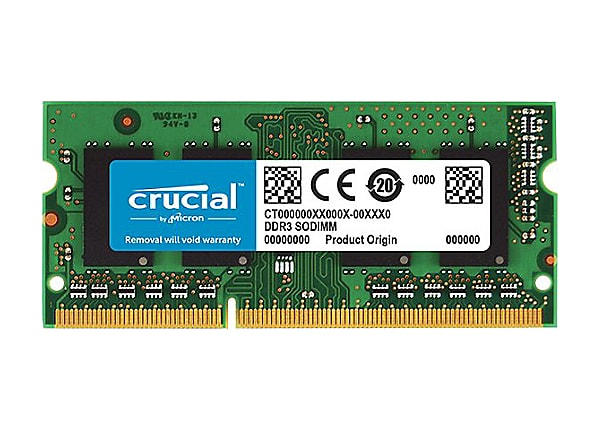 Crucial - DDR3 - 4 GB - SO-DIMM 204-pin - unbuffered