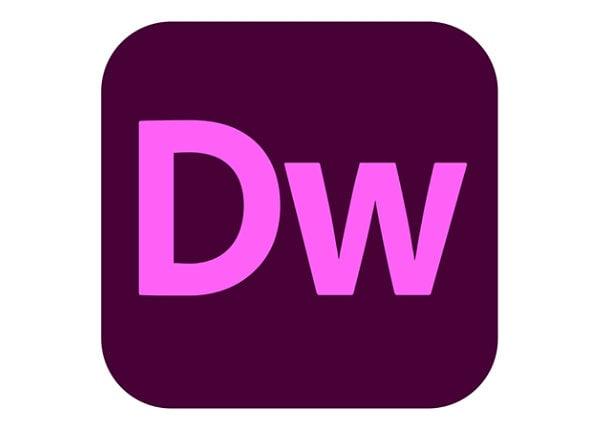 Adobe Dreamweaver CC for Enterprise - Enterprise Licensing Subscription Ren