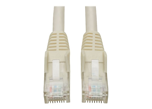 Tripp Lite Cat6 GbE Snagless Molded Patch Cable UTP White RJ45 M/M 6in 6""