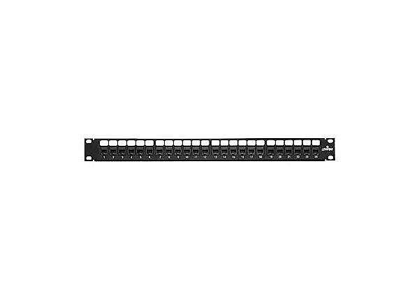 Leviton eXtreme 6+ QuickPort Patch Panel - patch panel - 19""
