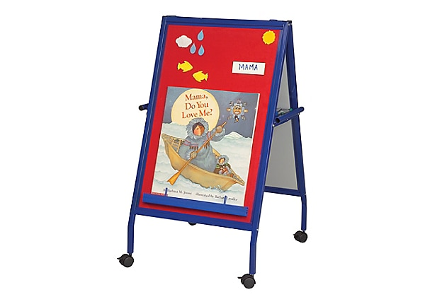 Balt Magnetic Flannel Easel with Wheels