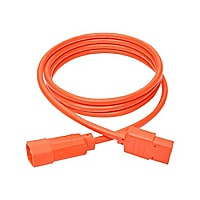 Tripp Lite Computer Power Extension Cord 10A 18 AWG C14 to C13 Orange 6'