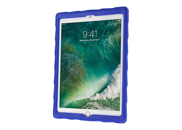 "Gumdrop DropTech Clear Protective Case for iPad 9.7""- Royal Blue/Lime"
