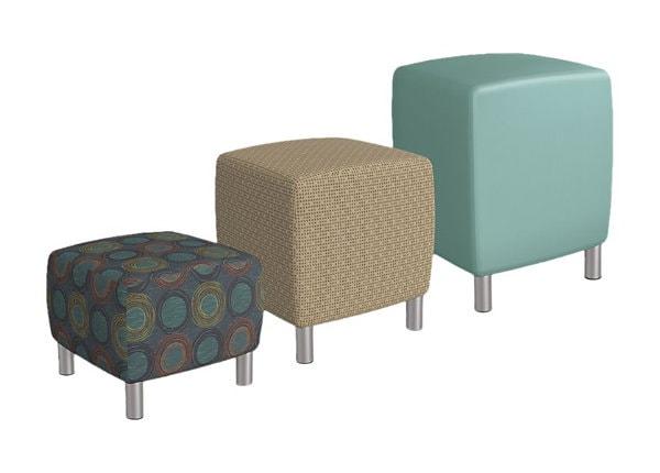 Balt Lounge Soft Seating Medium Upholstered Square Stool - Eon Spring