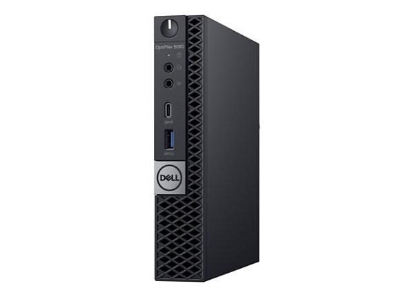 Dell OptiPlex 5060 - micro - Core i3 8100T 3.1 GHz - 4 GB - 500 GB - with 3