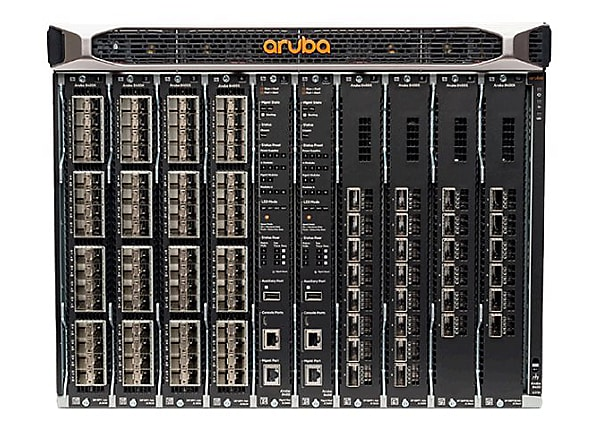 HPE Aruba 8400 8-slot Chassis - switch - 32 ports - rack-mountable - with 2