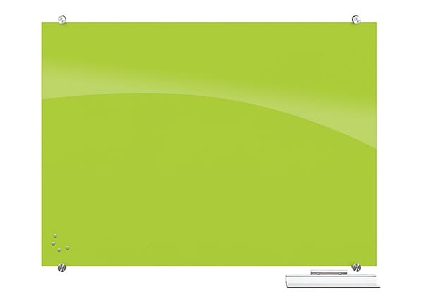 Balt Visionary Magnetic Glass Dry Erase Markerboard - Green