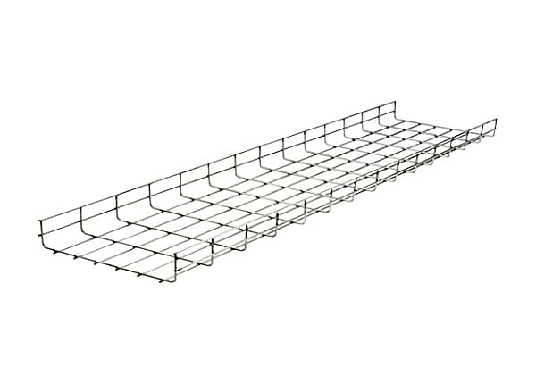 "Hubbell 4""x4""x118"" Overhead Pre-Galvanized Round Wire Basket Tray"