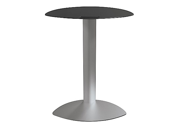 Balt Tablet Side Arm Table - Black/Platinum