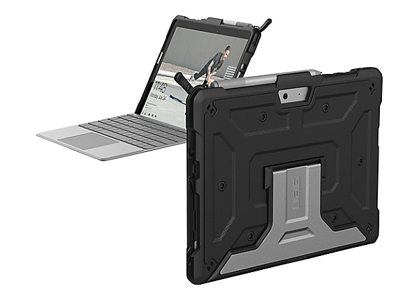 UAG Metropolis Series Rugged Case for Microsoft Surface Go - Black - back c