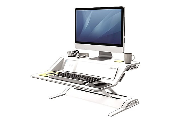 Fellowes Lotus DX Sit-Stand Workstation - pied