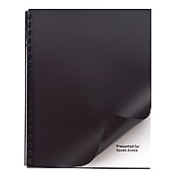 GBC Swingline Solid Standard Presentation Cover - Black - 50-Pack